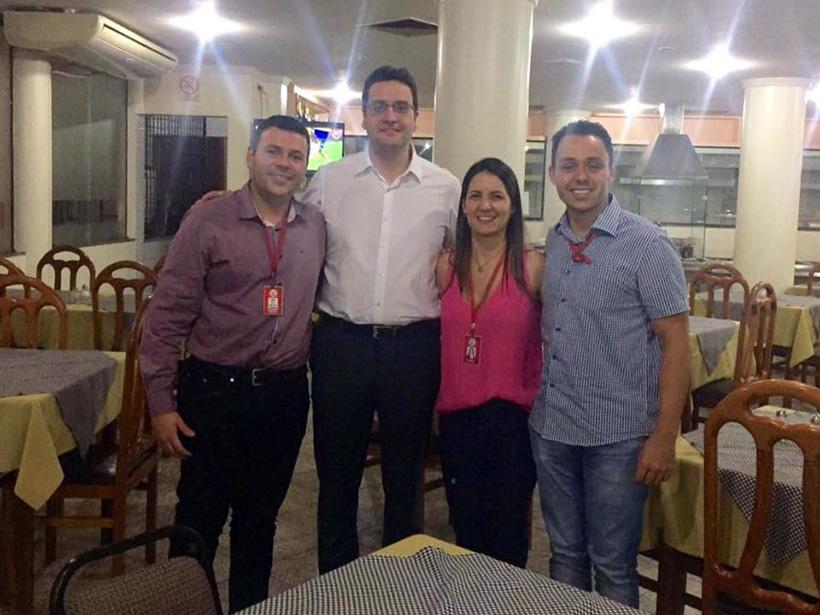 Tutor Willer Carlos, palestrante Homero Marchese, professora Angela Barbosa e tutor Pedro Vinícius.