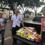No Polo Unipar EAD de Guaíra, os alimentos arrecadados foram destinados ao Projeto Hora da Misericórdia.