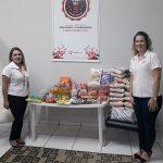 No Polo Unipar EAD de Paranavaí, os alimentos arrecadados foram destinados ao Lar Vicentino